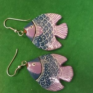 Jewelry - Wooden Fish Earrings 5 for $25